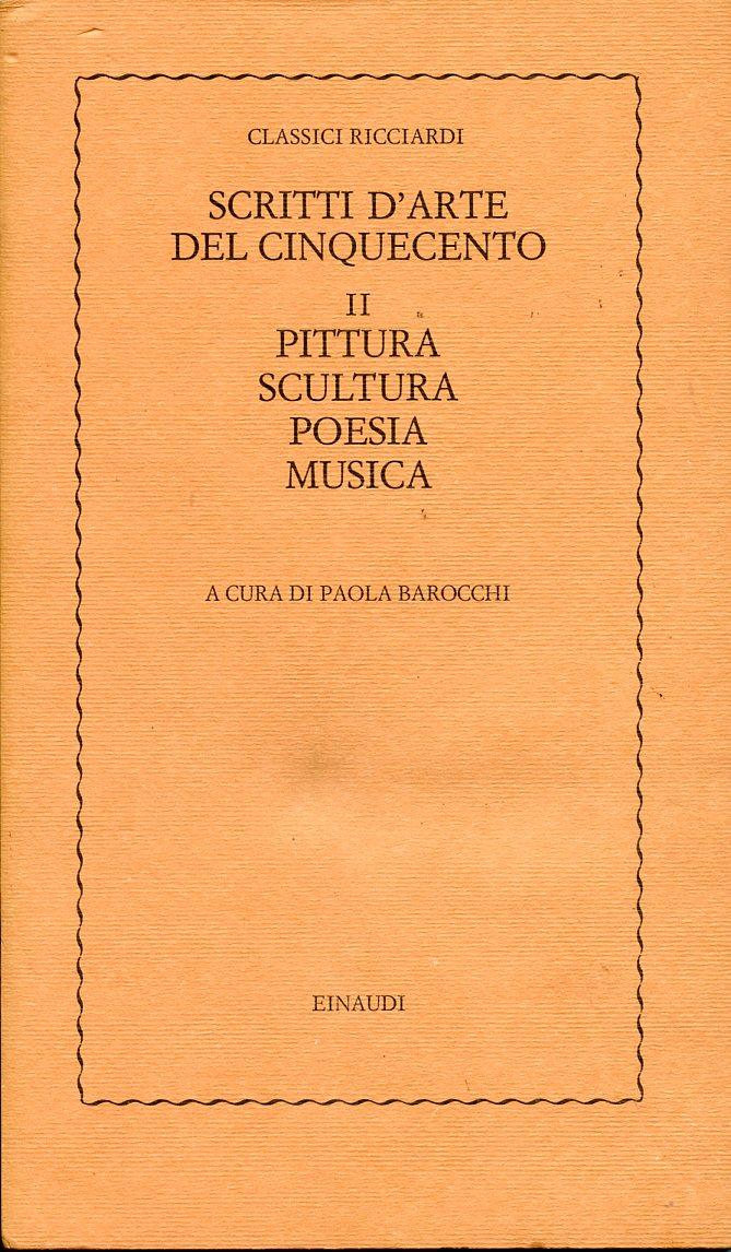 Scritti d'arte del Cinquecento - II