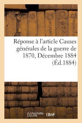 Rponse a l'Article Publie par la Nouvelle Revue, Octobre 1884