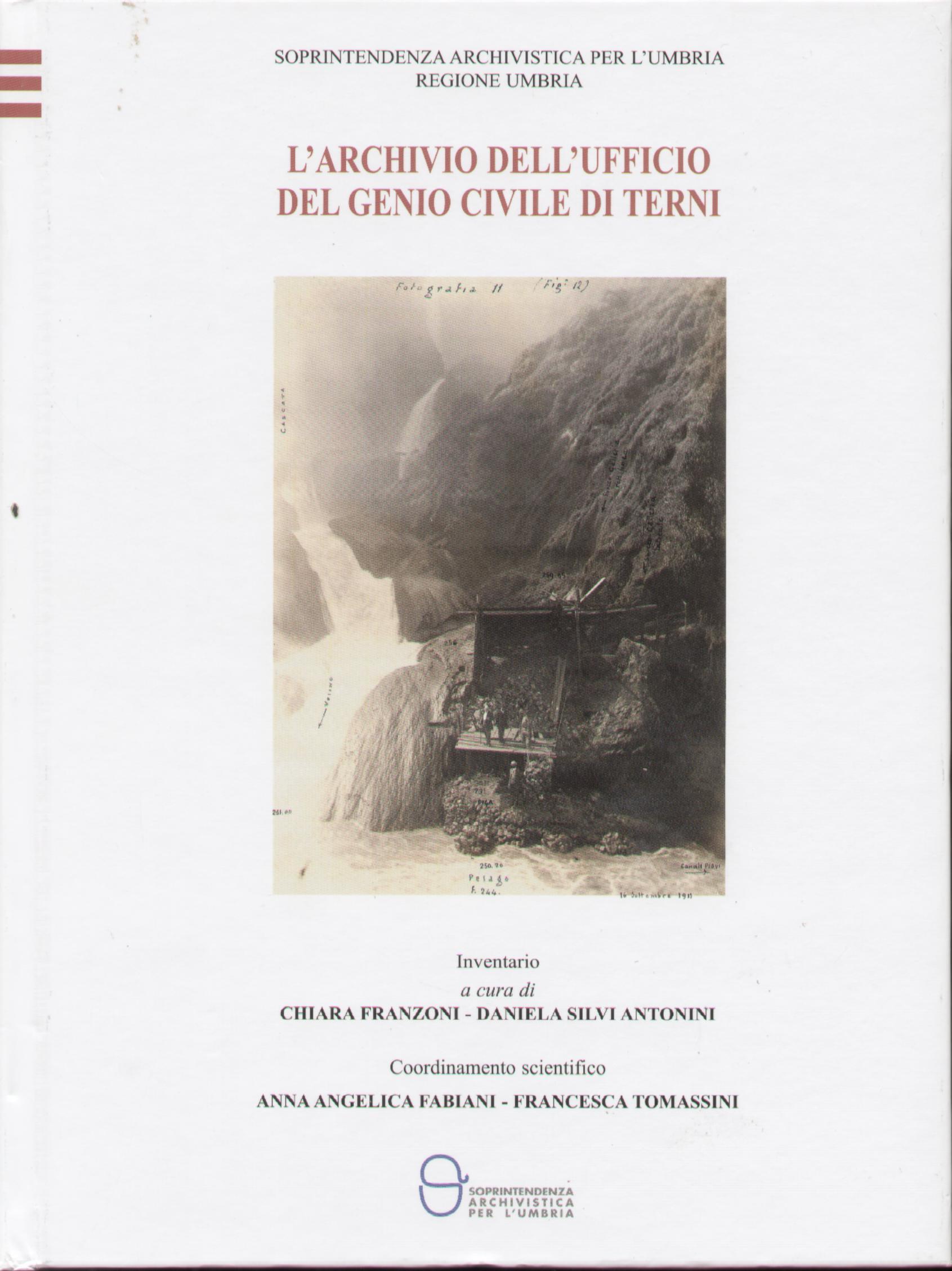 L'archivio dell'ufficio del genio civile di Terni