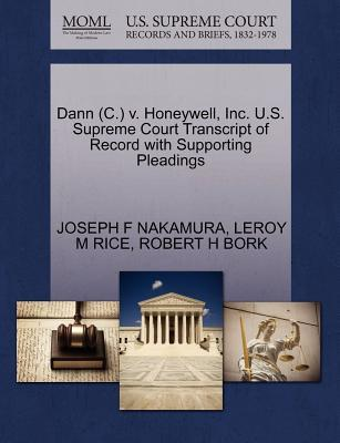 Dann (C.) V. Honeywell, Inc. U.S. Supreme Court Transcript of Record with Supporting Pleadings