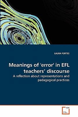 Meanings of 'error' in EFL teachers' discourse