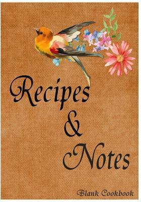Blank Cookbook Recipe & Note
