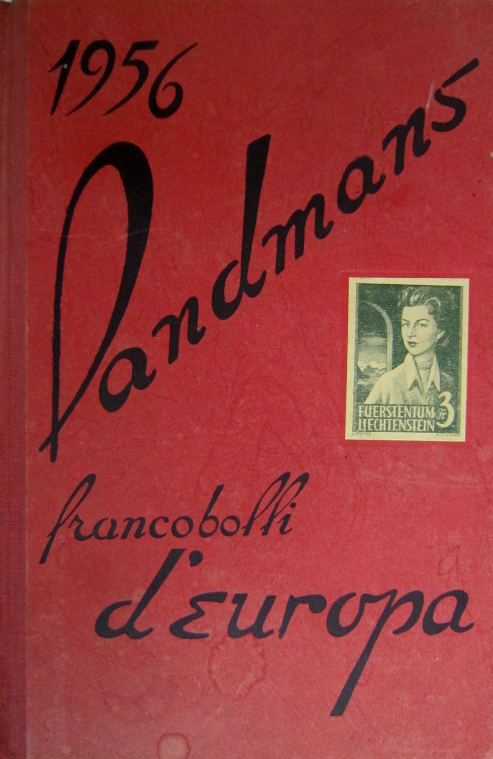 Catalogo Landmans dei francobolli d'Europa 1956