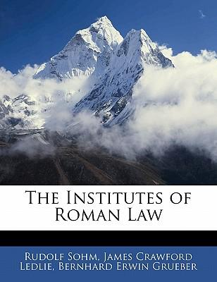 The Institutes of Roman Law