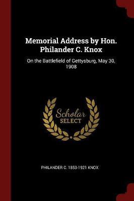 Memorial Address by ...