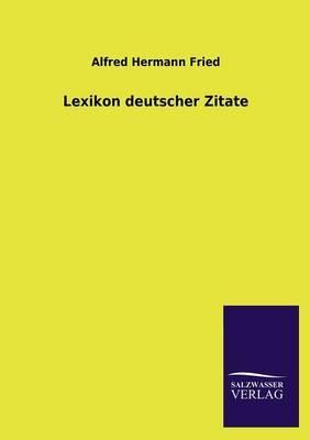 Lexikon deutscher Zitate