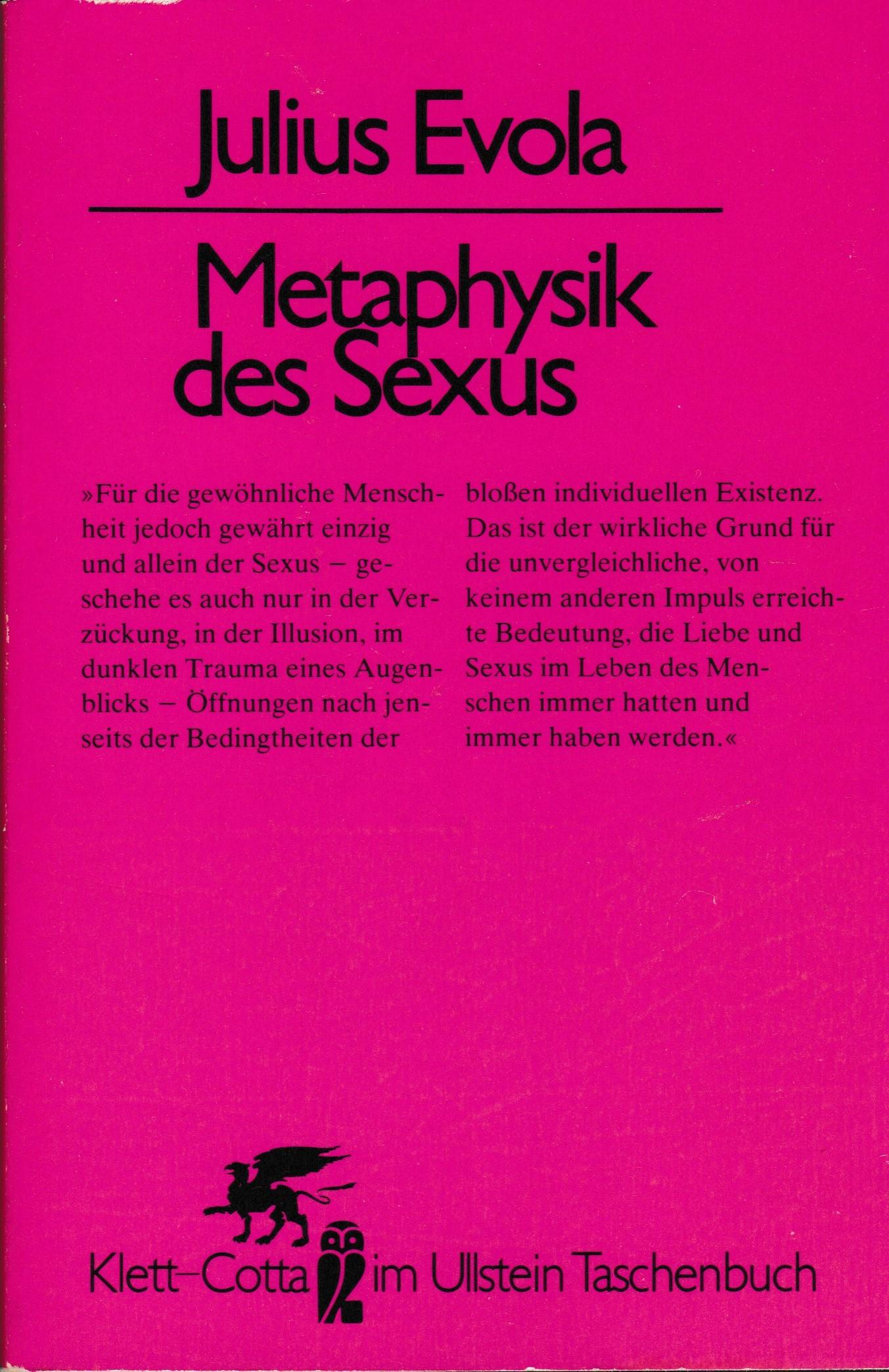 Metaphysik des Sexus