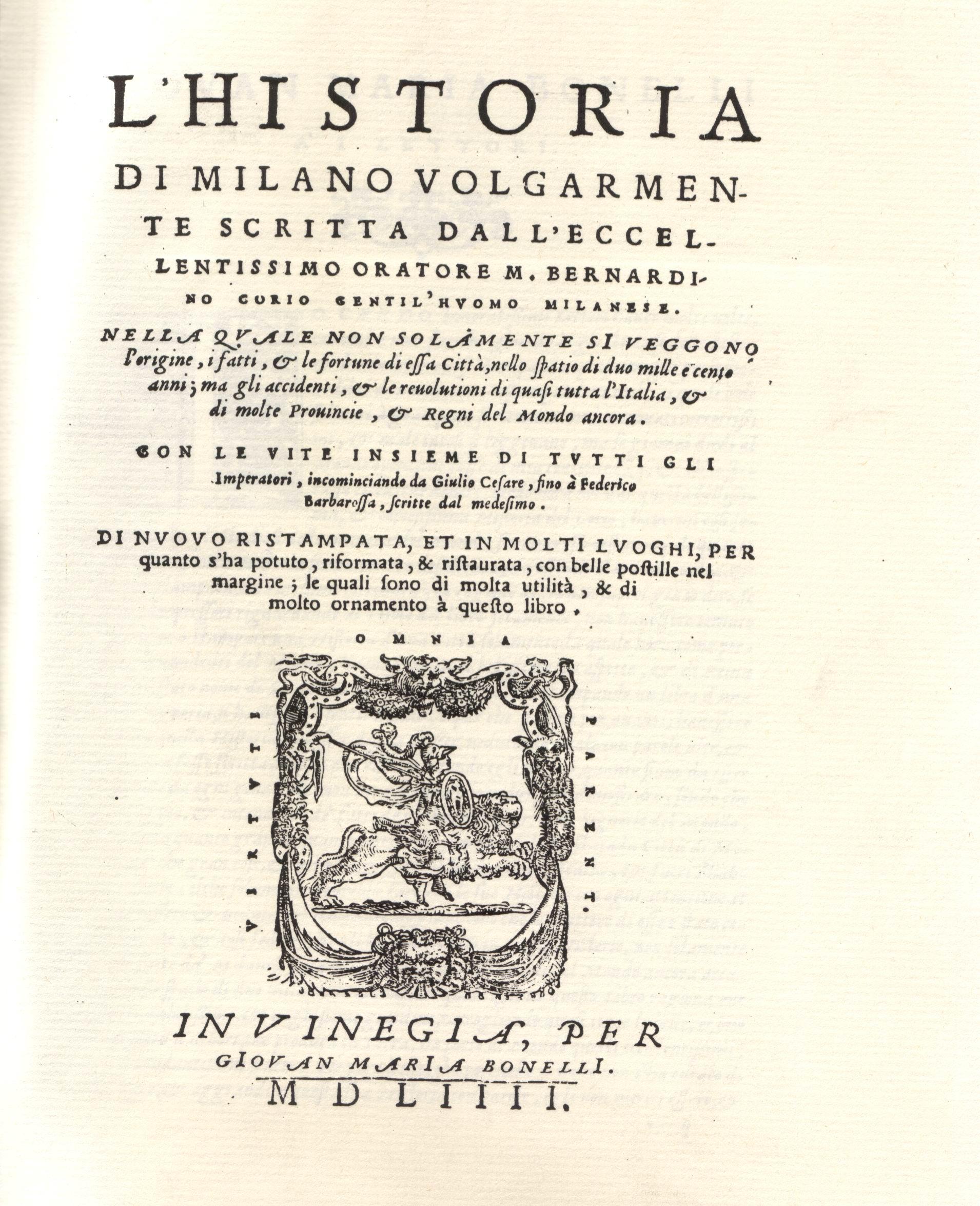 L'Historia di Milano