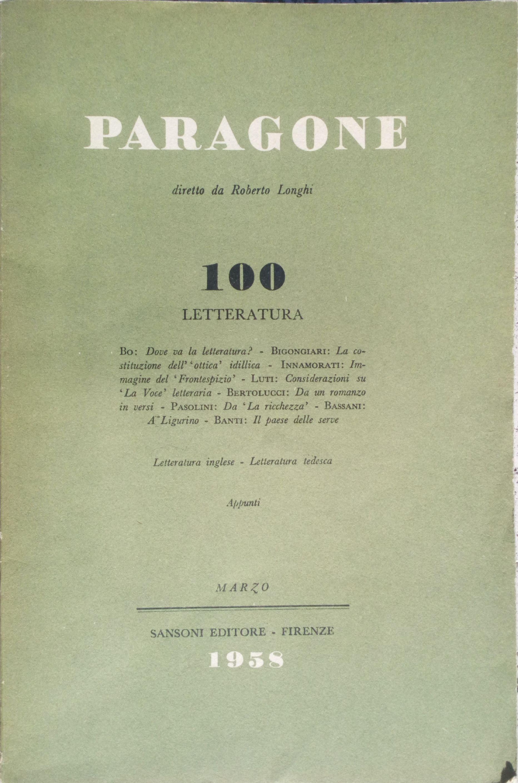Paragone n. 100
