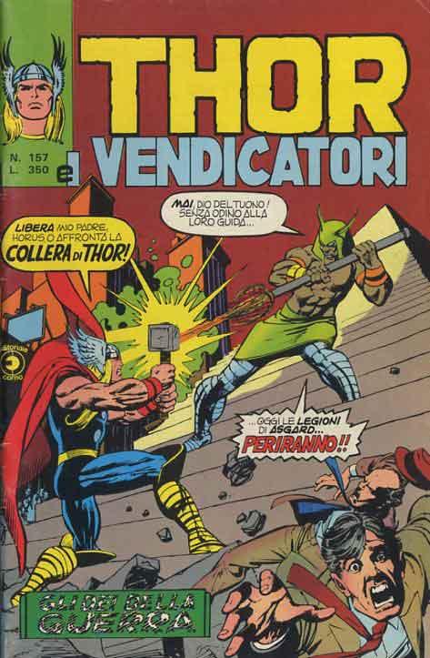 Thor e i Vendicatori (Il Mitico Thor) n. 157