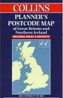 Collins Planner's Postcode Area Map of Great Britain and Northern Ireland