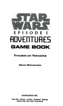 Star wars episode I adventures game book