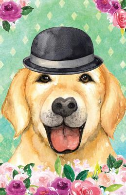 Bullet Journal For Dog Lovers Chic Yellow Labrador In a Bowler Hat