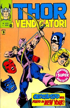 Thor e i Vendicatori (Il Mitico Thor) n. 233