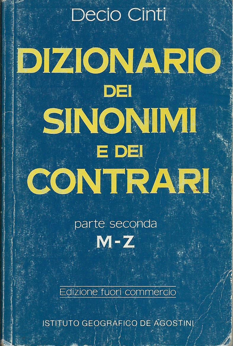 Dizionario dei sinonimi e dei contrari - parte seconda