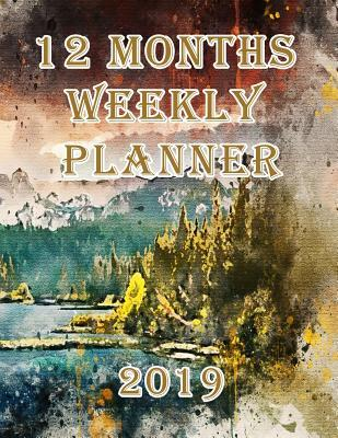 12 Months Weekly Planner 2019