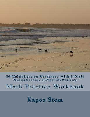 30 Multiplication Worksheets With 5-digit Multiplicands, 2-digit Multipliers