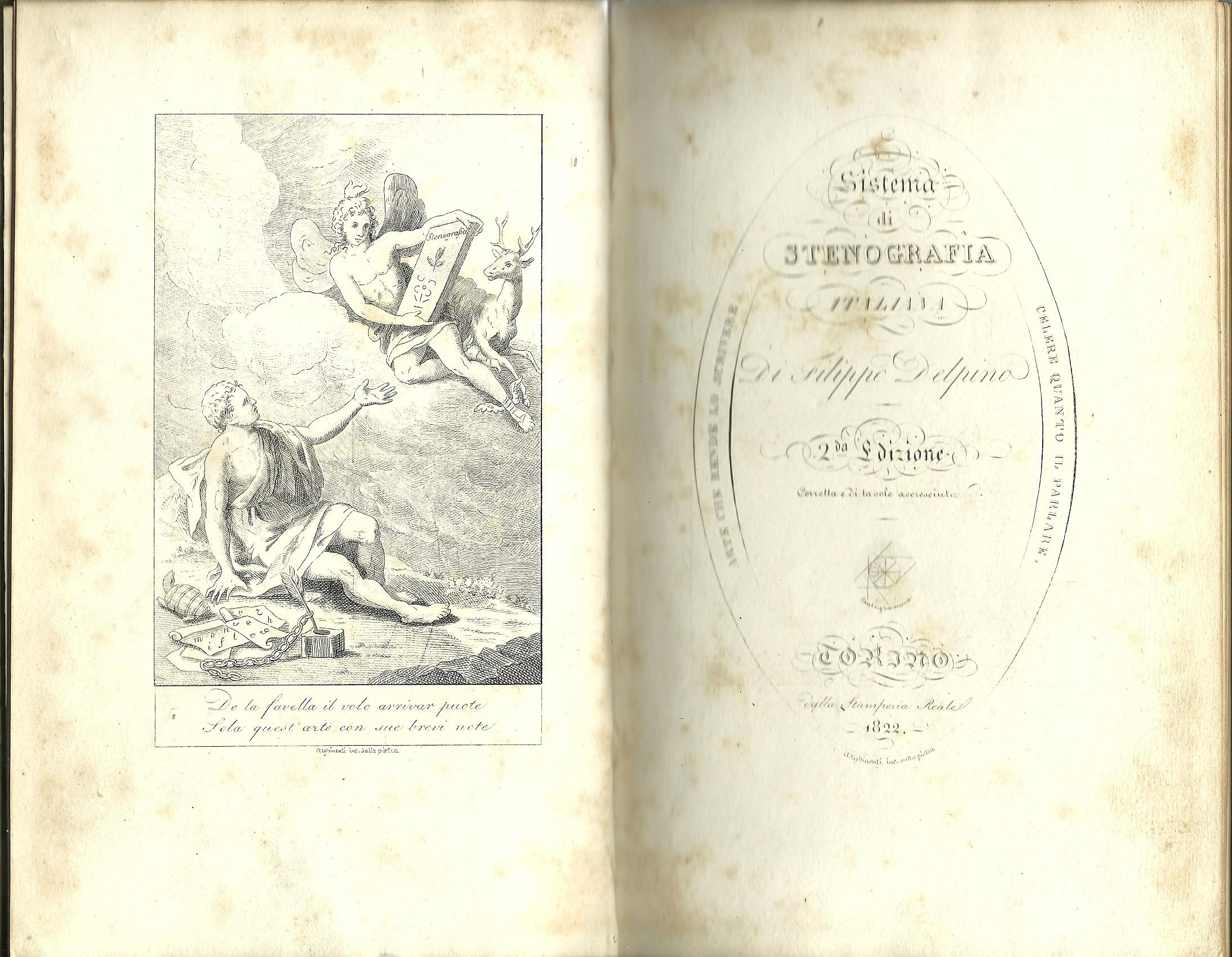 Sistema di stenografia italiana di Filippo Delpino