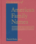 Dictionary of American Family Names: G-N