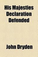 His Majesties Declaration Defended