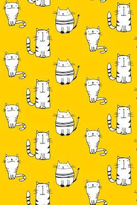 Journal Notebook For Cat Lovers Sketchy Cats Pattern 8