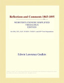 Reflections and Comments 1865-1895 (Webster's Chinese Simplified Thesaurus Edition)
