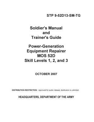 Soldier's Manual and Trainer's Guide Power-generation Equipment Repairer Mos 52d Skill Levels 1, 2, and 3