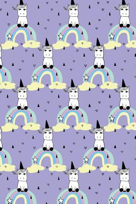 Journal Notebook Little Unicorns On Rainbows Pattern 3