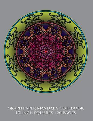 Graph Paper Mandala Notebook 1/2 inch squares 120 pages