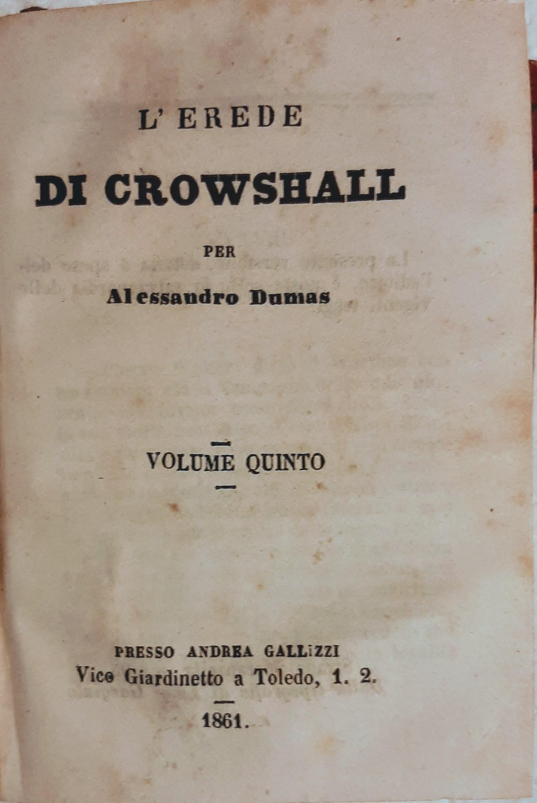 L'erede di Crowshall (vol. V)