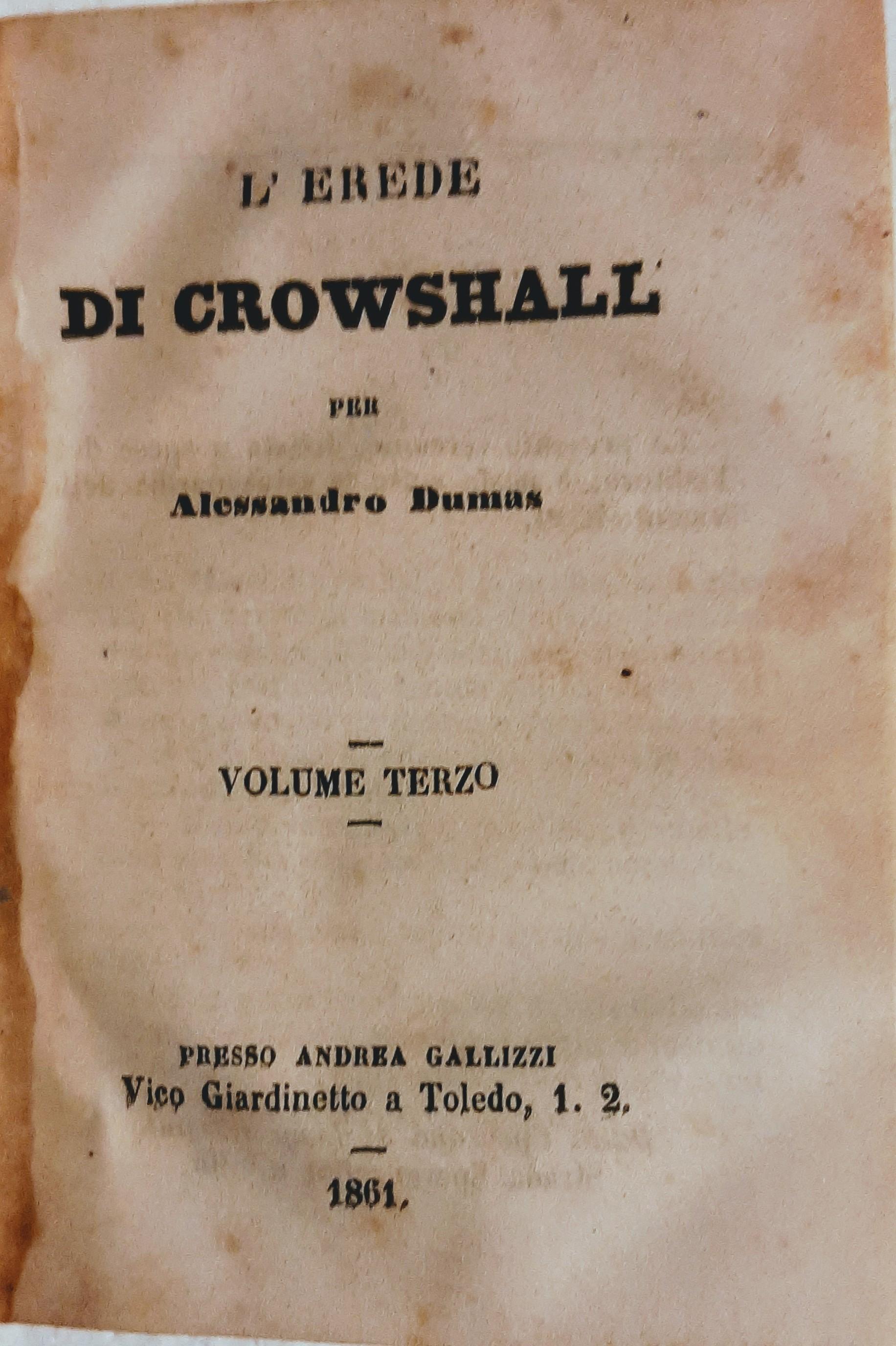 L'erede di Crowshall (vol. III)