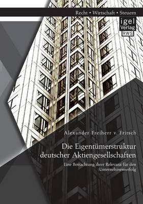 Die Eigentümerstruktur deutscher Aktiengesellschaften