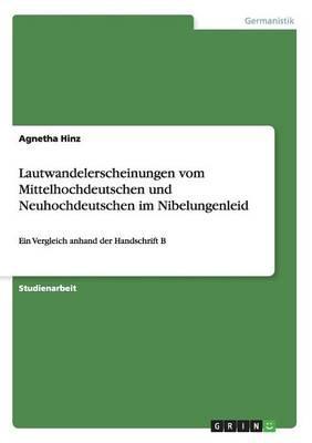 Lautwandelerscheinungen vom Mittelhochdeutschen und Neuhochdeutschen im Nibelungenleid