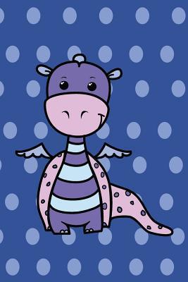 Cute Animals Little Dragon Journal, Dotty-deep Purple