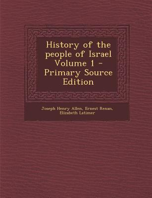 History of the People of Israel Volume 1
