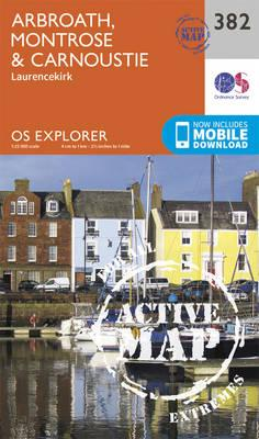 OS Explorer Map Active (382) Arbroath, Montrose and Carnoustie