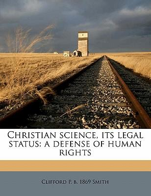 Christian Science, Its Legal Status