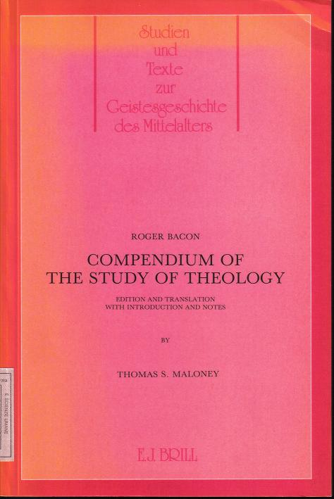 Compendium of the study of theology