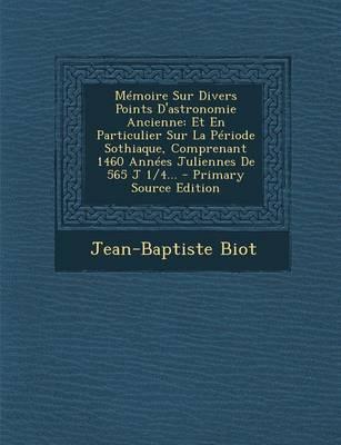 Memoire Sur Divers P...