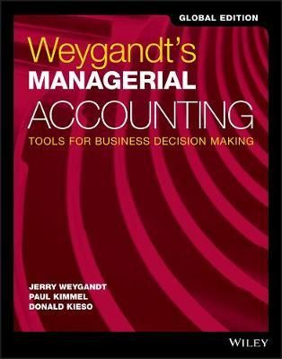 Weygandt's Managerial Accounting