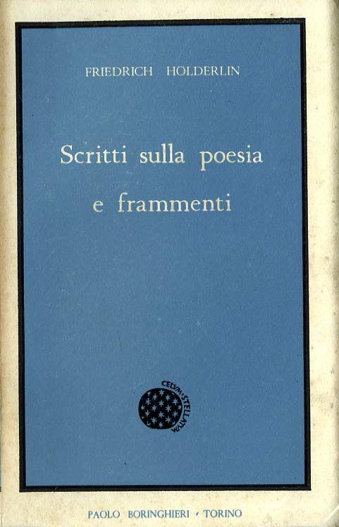 Scritti sulla poesia e frammenti