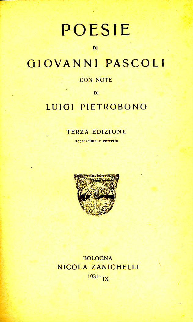 Poesie di Giovanni Pascoli