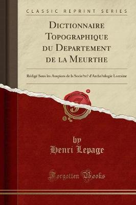 Dictionnaire Topographique du Département de la Meurthe