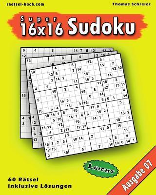 Leichte 16 X 16 Super-sudoku Ausgabe
