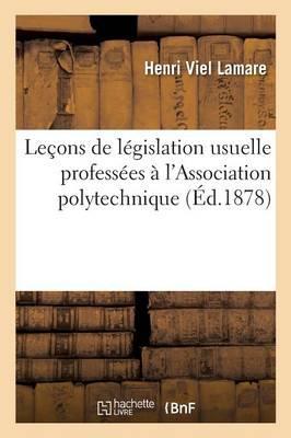 Lecons de Législati...