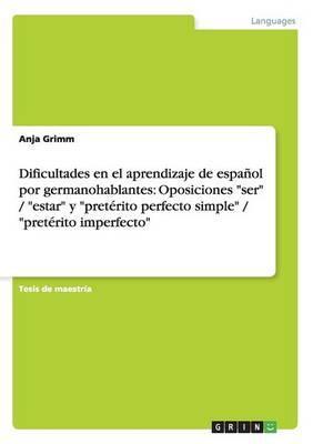 Dificultades en el aprendizaje de español  por germanohablantes