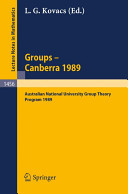 Groups--Canberra, 1989
