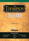 Thompson Chain-Reference Bible King James Version/Large Print/Plain/Black Bonded Cover