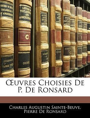 Uvres Choisies de P. de Ronsard