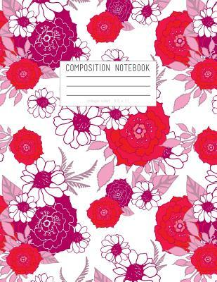 Red Floral Composition Notebook